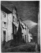 'Street at Saverne', 19th century (1904).Artist: James Abbott McNeill Whistler