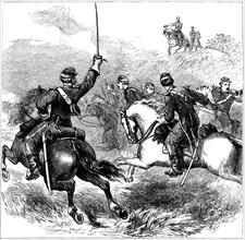 General Sheridan at Cedar Creek, Virginia, American Civil War, 1864 (c1880). Artist: Unknown