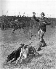 'Coursing: Slipping the Greyhounds', 1887. Artist: Unknown