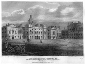 Horse Guards, Westminster, London, 1810.Artist: G Cooke