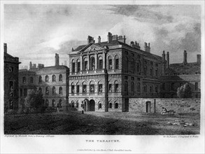 The Treasury, Westminster, London, 1814.Artist: Woolnoth
