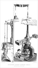 Boulton's Screw Coining Press, As Used in the Royal Mint, 1866.Artist: Joseph Wilson Lowry