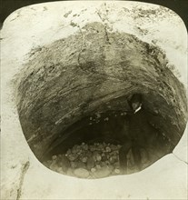 A giant's cauldron (glacier pothole), Norway.Artist: HC White
