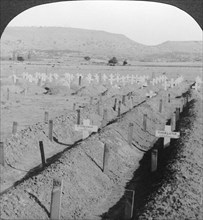 Intombi Cemetery, Ladysmith, Natal, South Africa.Artist: Excelsior Stereoscopic Tours