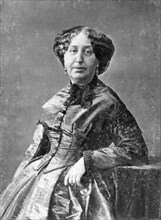 George Sand, French novelist and early feminist, c1845-1876. Artist: Unknown
