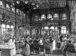 The Duval Restaurant on the Quai de Billy, Paris, 1889. Artist: Unknown
