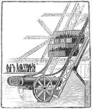 The well of the Roux Combaluzier elevator, Eiffel Tower, Paris, 1889. Artist: Unknown