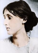 Virginia Woolf, English novelist, essayist and critic, early 20th century. Artist: Unknown