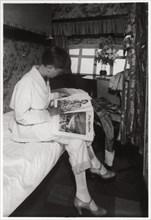 View of a passenger cabin on board Zeppelin LZ 127 'Graf Zeppelin', 1933. Artist: Unknown