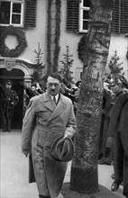 Adolf Hitler visiting the Schiller Haus in Weimar, Germany, 1934. Artist: Unknown