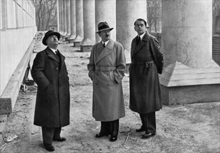 Adolf Hitler, Professor Leonhard Gall and architect Albert Speer, Munich, Germany, 1934. Artist: Unknown
