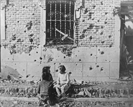 Homeless children, Barcelona, Catalonia, Spain, Spanish Civil War, c1936-c1939. Artist: Unknown