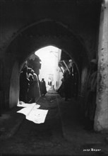 View through an archway, Rabat, Morocco, c1920s-c1930s(?). Artist: Unknown