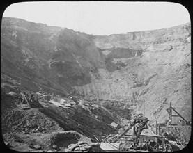 Kimberley diamond mine, South Africa, c1890. Artist: Unknown