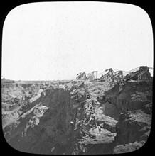 De Beer's diamond mine, South Africa, c1890. Artist: Unknown