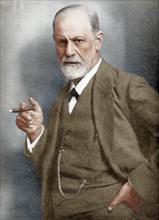 Sigmund Freud (1856-1939), Austrian neurologist. Artist: Unknown