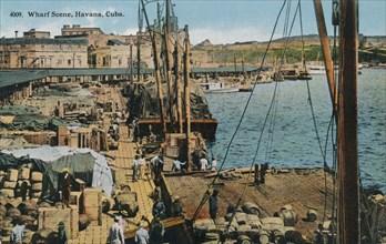 Wharf Scene, Havana, Cuba, 1910. Artist: Unknown