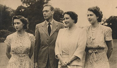 The Royal Family in the grounds of the Royal Lodge, Winsor, 1946. Artist: Lisa Sheridan