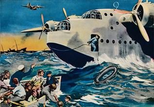 Two Short Sunderlands rescuing crew, 1940.