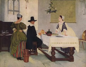 Between Two Fires, c1892, (1938). Artist: Francis Davis Millet