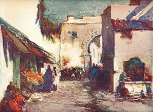 'In the Street (A Scene in Tangier)', c1903 (1903-1904). Artist: George Charles Haite.
