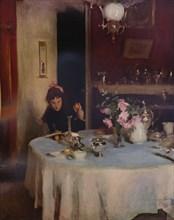 'The Breakfast Table', 1884 (1934). Artist: John Singer Sargent.