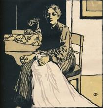'The Seamstress', c1900. Artist: Emil Orlik.