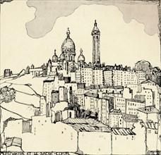 'Montmartre and the Sacré-Coeur', 1915. Artist: Jessie Marion King.
