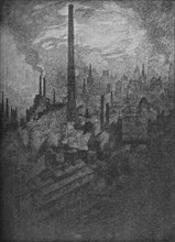 'The Great Chimney, Sheffield', 1910. Artist: Joseph Pennell.