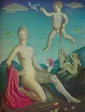 'Venus and Cupid', 1924. Artist: Collin Unwin Gill.