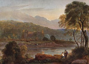 'Tintern Abbey', c1840. Artists: David Cox the elder, Walter de Clare.