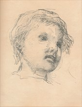 Sketch of a child, c1920. Artist: Matthias Marris.