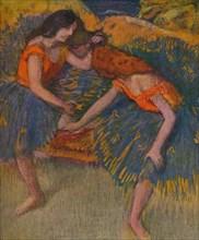 'Deux Danseuses Corsages Jaunes', c1902. Artist: Edgar Degas.