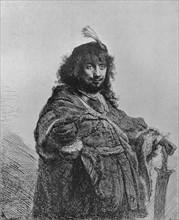 'Rembrandt with the Sabre', 1634. Artist: Rembrandt Harmensz van Rijn.
