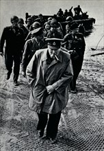 Churchill, Brooke, and Montgomery on the German-held east bank of the Rhine, 25th March, 1945.