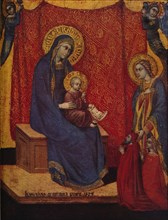'The Madonna Enthroned and Two Donors in Adoration', 1374. Artist: Barnaba da Modena.