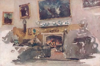 'Moreby Hall, Interior', 1884, (1904). Artist: James Abbott McNeill Whistler.