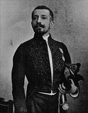'Pierre Loti in the uniform of a member of the Academie Francais', 1892, (1903). Artist: Louis Marie Julien Viaud.