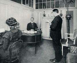 'Mr Sandow Attending To His Day's Correspondence', c1898. Artist: Unknown.