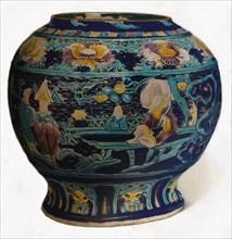 'Fahua jar with openwork design showing the Eight Daoist Immortals', c1550. Artist: Unknown.