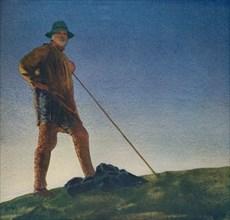 'The Shepherd hears the Guns at Dawn', c1910, (c1932). Artist: William Blamire Young.