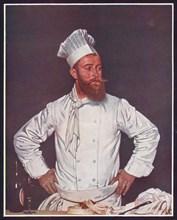 'Le Chef de l'Hôtel Chatham, Paris', c1921. Artist: William Newenham Montague Orpen.