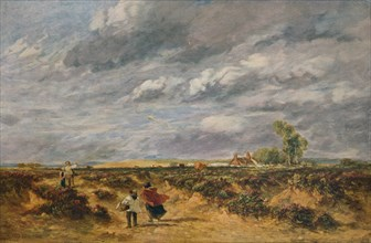 'Flying the Kite, A Windy Day', 1851. Artist: David Cox the elder.