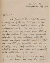 A letter from John Flaxman, 24 December 1819 (1904). Artist: John Flaxman.