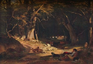 'The Mid Day Retreat', c1845. Artist: William Frederick Witherington.