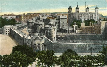 'The Tower of London & Mint, London', c1910.  Artist: Unknown.