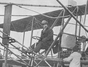 Samuel Franklin Cody, American aviation pioneer, 1913 (1934). Artist: Flight Photo.