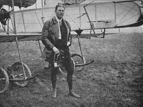 Mr Gordon Bell, who flew more different types than any other pilot of his time, 1913 (1934). Artist: Flight Photo.