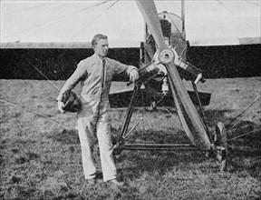 London-Paris Air Race: the winner, Mr WL Brock, the American racing pilot, 1914, (1934). Artist: Flight Photo.