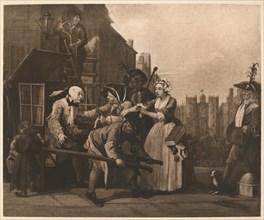 'A Rake's Progress - 4: The Arrest', 1733.  Artist: William Hogarth.